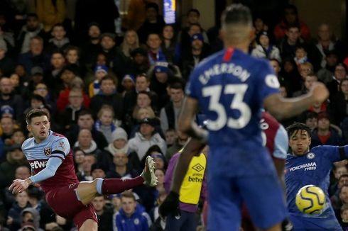 Chelsea Vs West Ham, Gol Aaron Cresswell Menangkan The Hammers