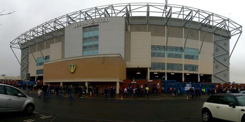 Kandang Leeds United, Elland Road. Leeds United kembali ke kasta teratas Liga Inggris pada Jumat (18/7/2020) setelah West Brom kalah kontra Huddersfield.