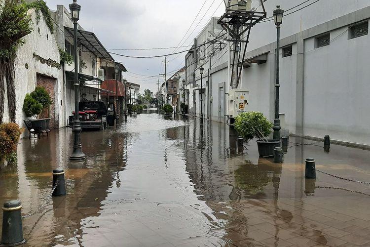 Ruas jalan sekitar Kota Lama Semarang sisi utara