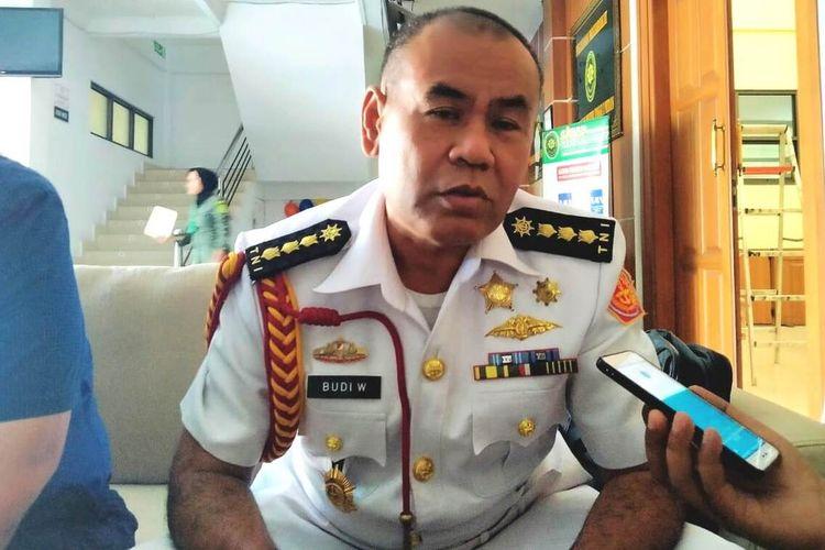 Oditur Militer Kolonel Laut Budi Winarno menjelaskan kronologis dan proses persidangan di Pengadilan Militer Tinggi - I Medan, Rabu (15/1/2020)