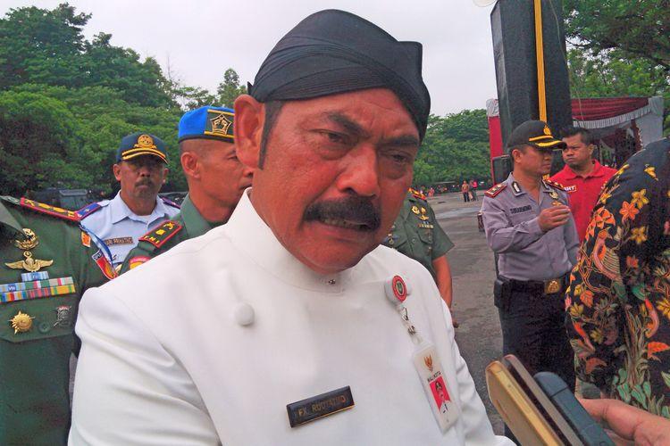Wali Kota Surakarta FX Hadi Rudyatmo di Solo, Jawa Tengah, Kamis (21/12/2017).