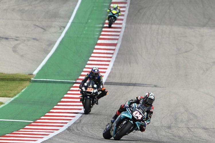 Andrea Dovizioso saat balapan pada MotoGP Amerika 2021