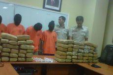 4 Pengedar Ditangkap, 130 Kg Ganja Diamankan