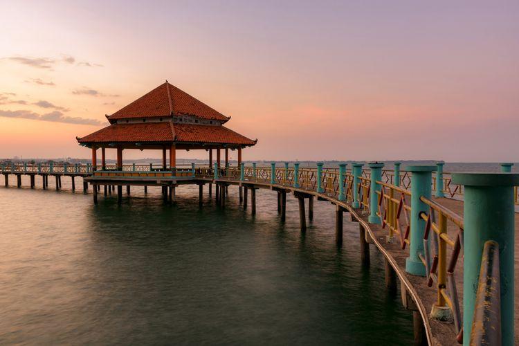 Ilustrasi pantai Kartini, Jepara, Jawa Tengah.