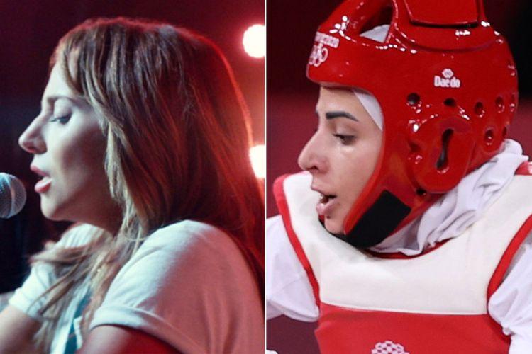 Lady Gaga (kiri) dan Julyana Al-Sadeq