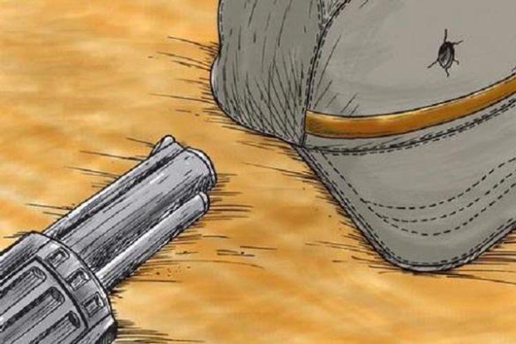 Illustration of a gun
