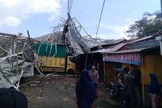 Angin Puting Beliung Memporak-porandakan Pasar Padang Lua, Tiga Pedagang Terluka