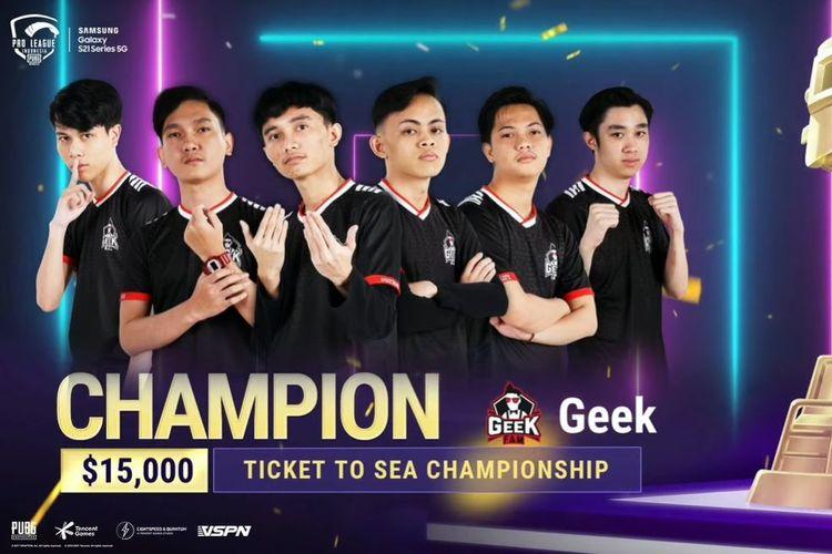 Tim Geek Fam yang berhasil memenangkan PMPL ID S3 2021 dan membawa pulang hadiah 15.000 dolar AS atau sekitar Rp 218 juta.