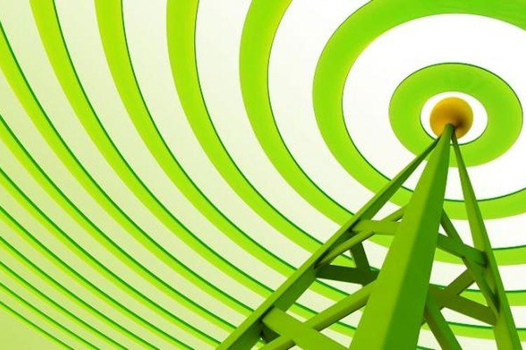 Ilustrasi sinyal wireless.