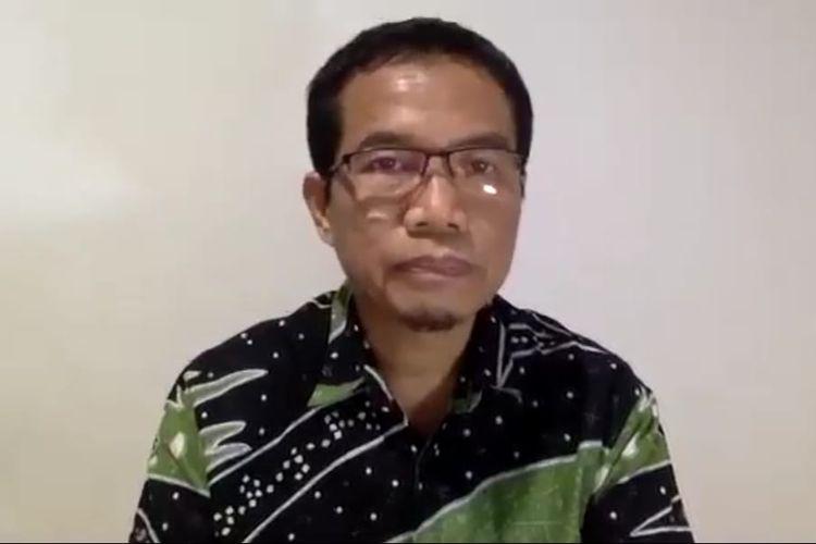 Juru Bicara Penanganan Covid-19 Kaltim, Andi M Ishak saat memberi keterangan pers di Samarinda, Rabu (17/6/2020).