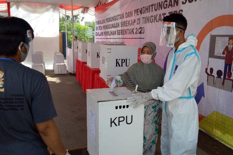 Simulasi pencoblosan di Pilkada Kabupaten Serang