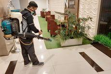 Cegah Penyebaran Corona, Pusat Perbelanjaan di Kota Tangerang Disemprot Disinfektan