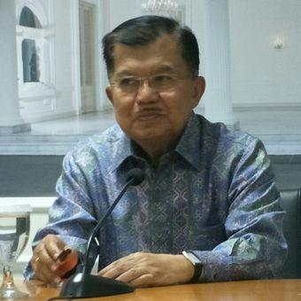 Wakil Presiden Jusuf Kalla di Istana Wapres, Jakarta, Jumat (23/11/2018)
