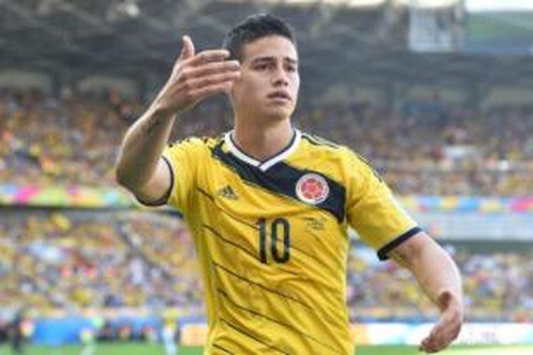 Gelandang tim nasional Kolombia, James Rodriguez.
