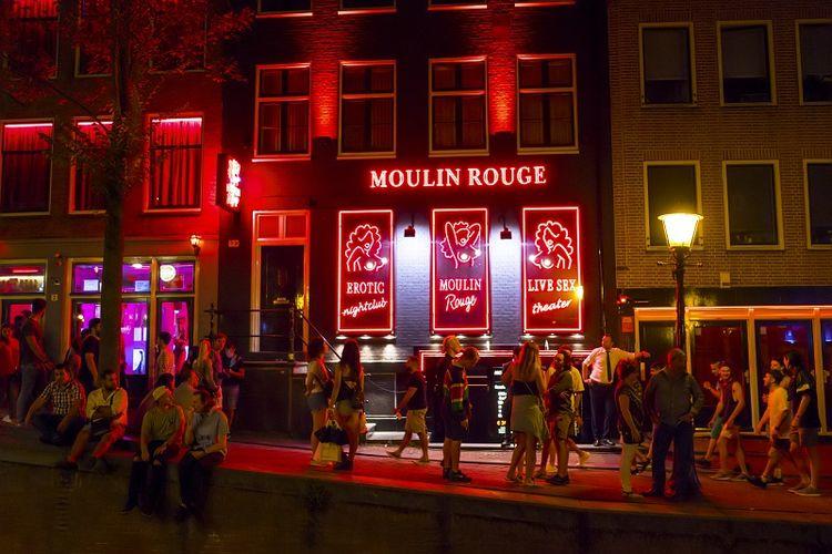 Red Light District, Amsterdam, Belanda.