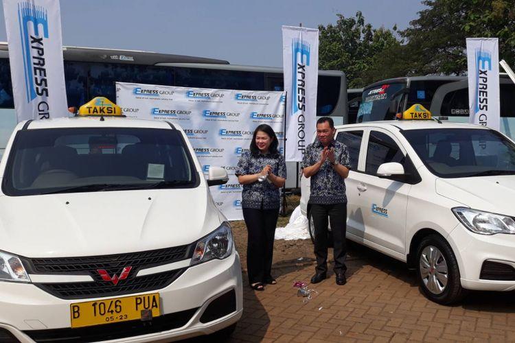 Peresmian 150 armada baru jenis Wuling Confero Taksi Express, Rabu (4/7/2018)
