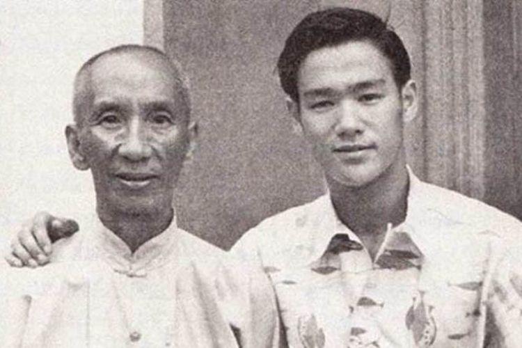 Yip Man atau Ip Man (kiri) dan Bruce Lee (kanan). (www.pinterest.com)