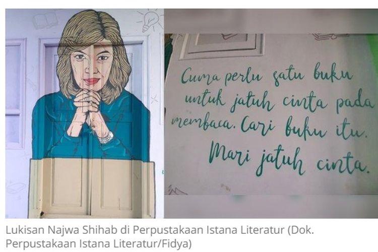 Tangkapan layar dinding perpustakaan sekolah di Lamongan, Jawa Timur.
