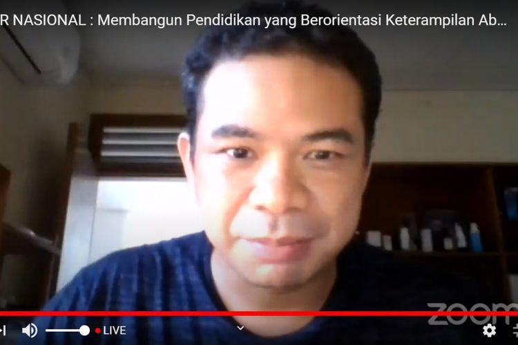 Reza A.A Wattimena saat menjadi narasumber Webinar Multiliteracies Foundation.