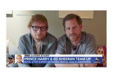 Ed Sheeran - Pangeran Harry, antara Rambut Jagung dan Kesehatan Mental