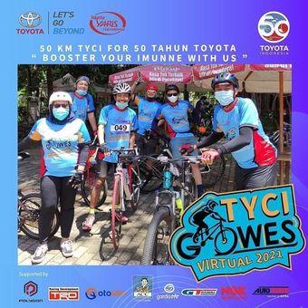 Hut ke 50 Tahun Toyota, Komunitas Yaris Gowes Virtual 50 KM