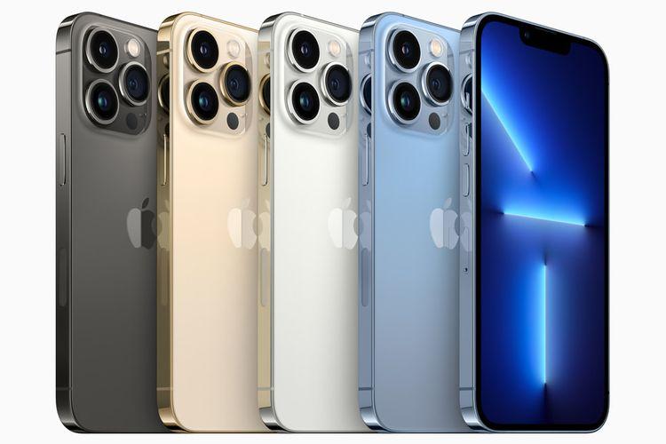 Varian warna iPhone 13 Pro dan iPhone 13 Pro Max terdiri dari  graphite, gold, silver, serta sierra blue.