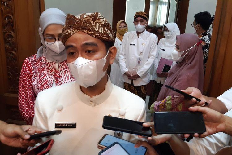 Wali Kota Solo, Gibran Rakabuming Raka di Balai Kota Solo, Jawa Tengah, Kamis (3/6/2021).