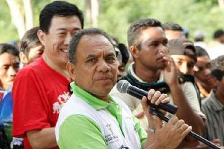 Gubernur Nusa Tenggara Timur Frans Lebu Raya.