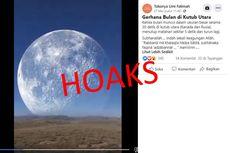 [HOAKS] Video Gerhana Bulan di Kutub Utara Berukuran Besar hingga Menutup Matahari