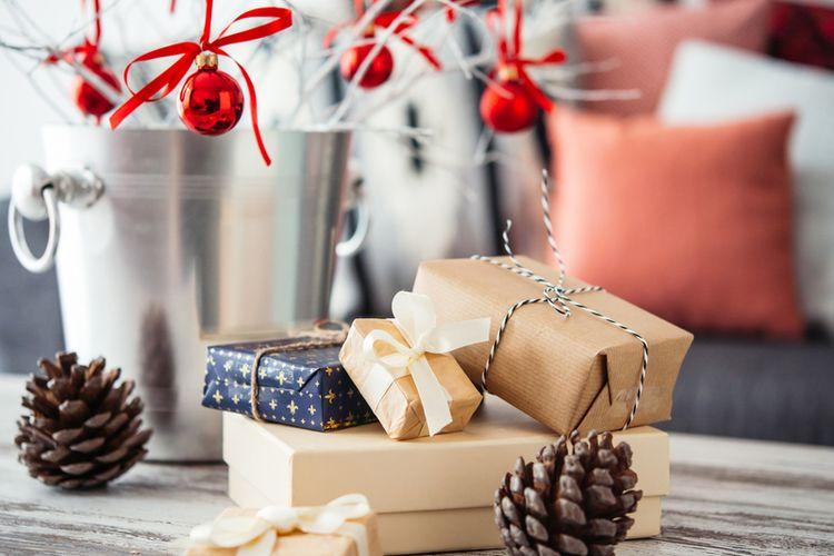 Ilustrasi dekorasi natal, tahun baru.