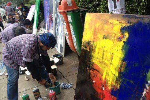 Lewat Lukisan, Galang Dana Dukung Jokowi