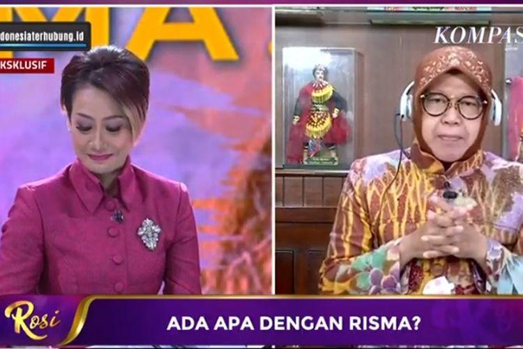 Wali Kota Surabaya Tri Rismahrini di tayangan ROSI KompasTV, Kamis (2/7/2020).