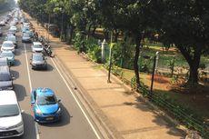 Viral di Media Sosial, Lampu Pohon Plastik di Trotoar Sudah Dicopot