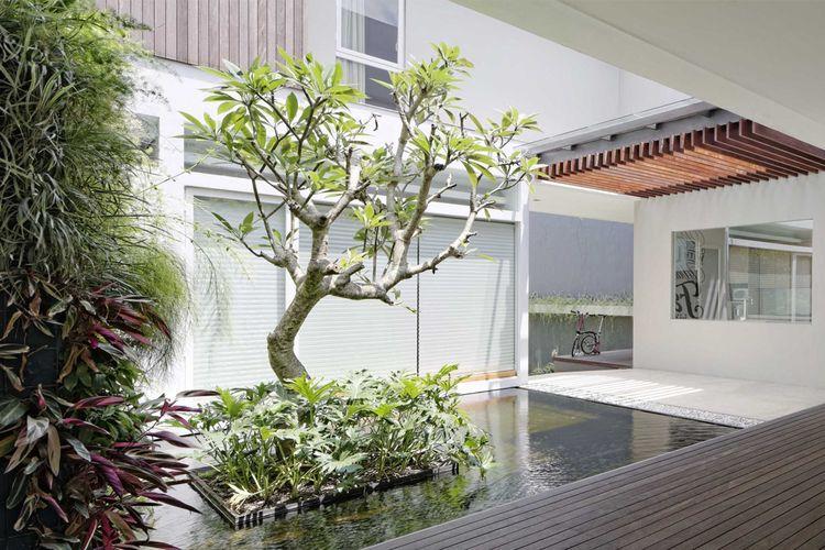 Pohon di taman karya Rakta Studio
