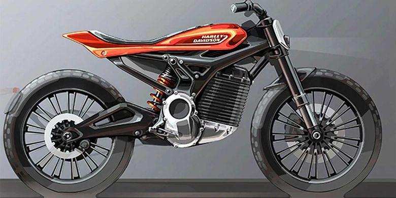 Motor listrik konsep bergaya tracker dari Harley-Davidson