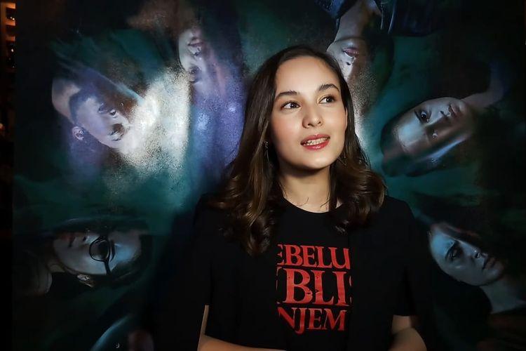 Artis peran Chelsea Islan saat ditemui di kawasan Senayan, Jakarta Pusat, Rabu (5/2/2020).