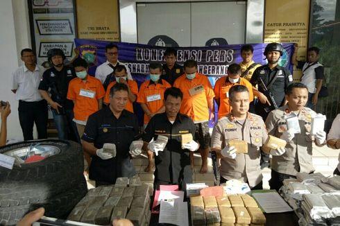 Polisi Tangkap 5 Pengedar Narkoba, 79,5 Kg Ganja Disita