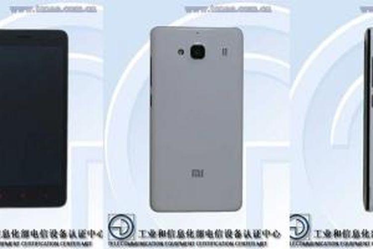 Bocoran foto Xiaomi Redmi 2S dari lembaga sertifikasi telekomunikasi Tiongkok TENAA