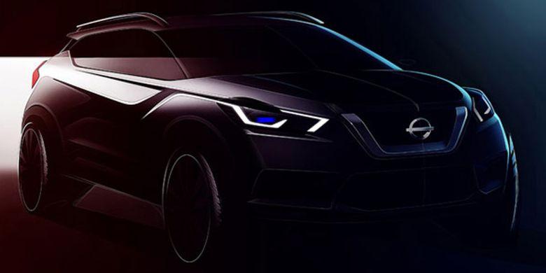 Sketsa SUV Nissan Kicks terbaru diperlihatkan Nissan di India