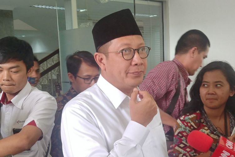 Menteri Agama Lukman Hakim Saifuddin di Istana Kepresidenan, Jakarta, Selasa (15/5/2018).