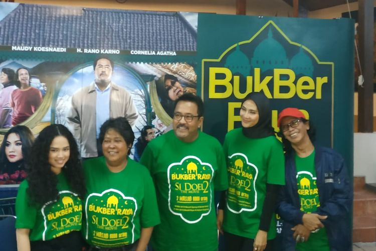 Wizzy, Suti Karno, Rano Karno, Maudy Kosenaedi dan Mandra saat ditemui di kawasan Lebak Bulus, Jakarta Selatan, Selasa (14/5/2019).