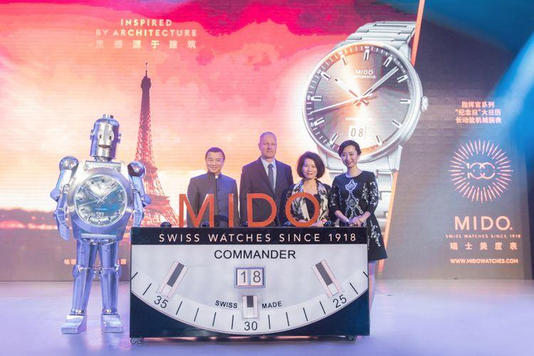 Robi, ikon Mido yang masih eksis saat di perayaan 100 tahun Mido, Shanghai, China.