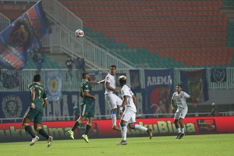 Pertandingan Persikabo vs Arema FC di Stadion Pakansari, Cibinong, Kabupaten Bogor, Senin (2/3/2020).