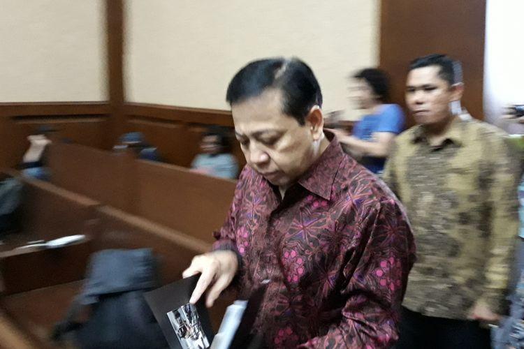 Setya Novanto bersaksi untuk terdakwa dokter Bimanesh Sutarjo di Pengadilan Tipikor Jakarta, Jumat (27/4/2018).
