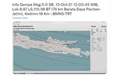 Gempa Pacitan M 4,8 Mengguncang hingga Yogyakarta, Ini Penjelasan BMKG