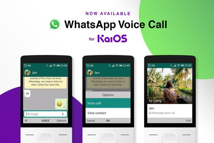 Ponsel berbasis KaiOS bisa melakukan panggilan suara di aplikasi WhatsApp