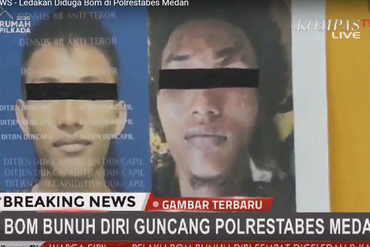 Wajah pelaku bom bunuh di Mapolrestabes Medan yang dirilis polisi, Rabu (13/11/2019).  Pelaku diketahui berinisial RMN.
