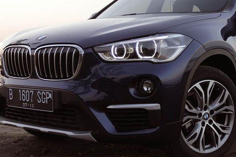 Bagian depan All new BMW X1 didesain agar mengalirkan udara dengan baik. Desain eksteriornya mencatat angka hambatan udara 0,25.