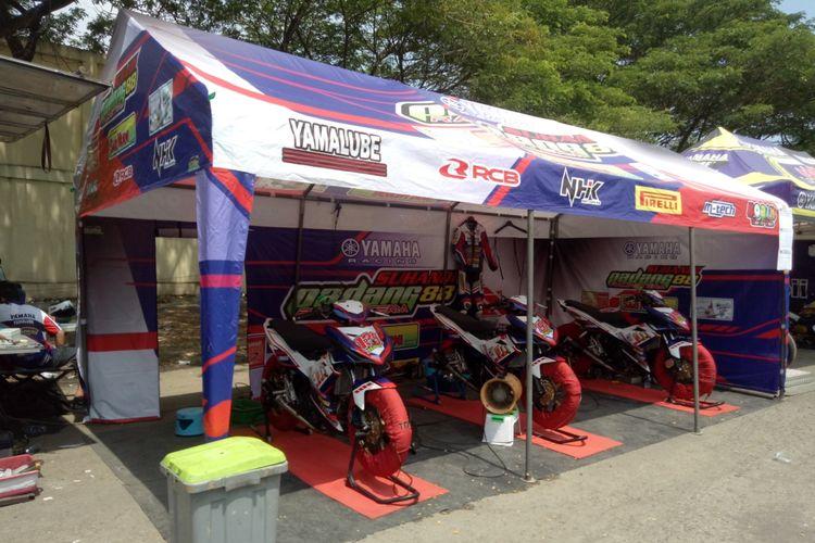 Motor-motor balap yang digunakan di ajang Yamaha Cup Race 2019 seri kedua di Sirkuit Pancing, Medan, Sumatera Utara, 29-30 Juni.