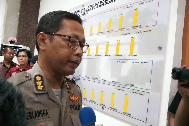 Kabid Humas Polda Jawa Barat, Kombes Pol Saptono Erlangga saat ditemui di Polrestabes Bandung, Jawa Barat, Jumat (31/1/2020).
